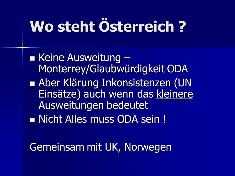 Wo steht Österreich .