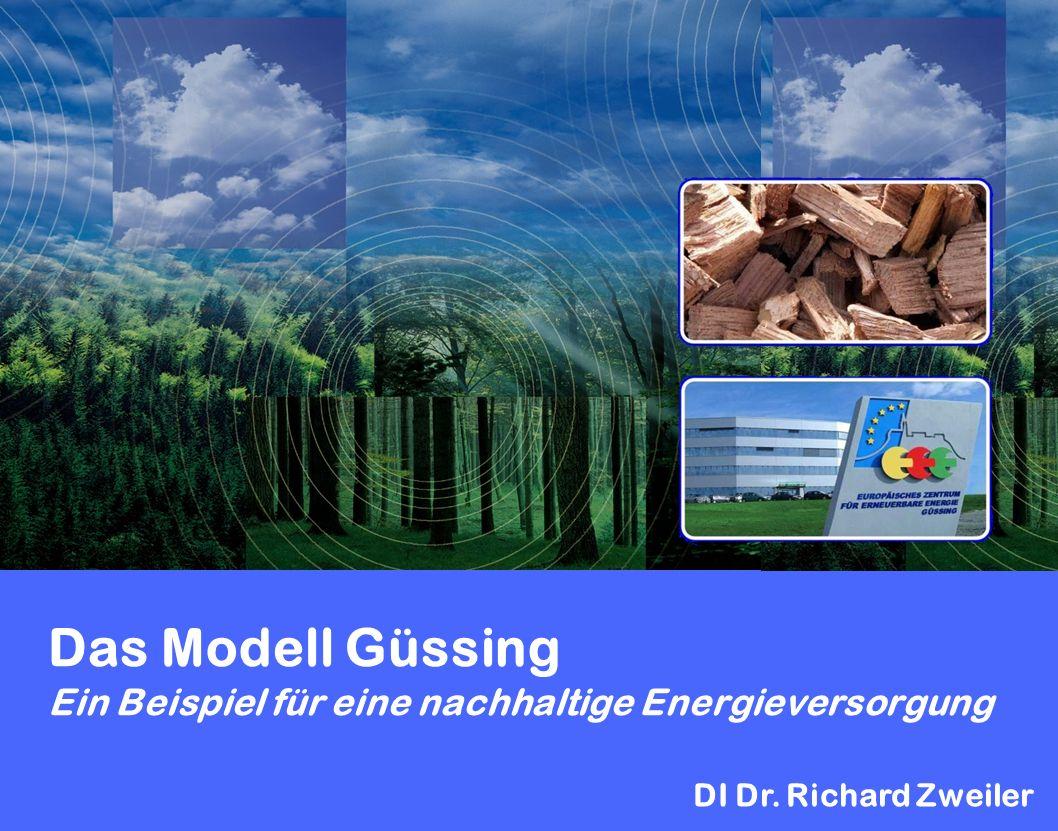 Das Modell Güssing Ein Beispiel für eine nachhaltige Energieversorgung DI Dr. Richard Zweiler