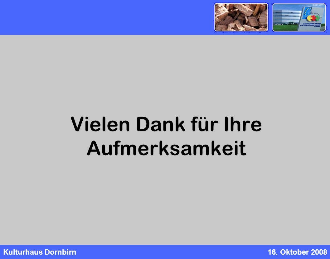 Kulturhaus Dornbirn16. Oktober 2008 Vielen Dank für Ihre Aufmerksamkeit