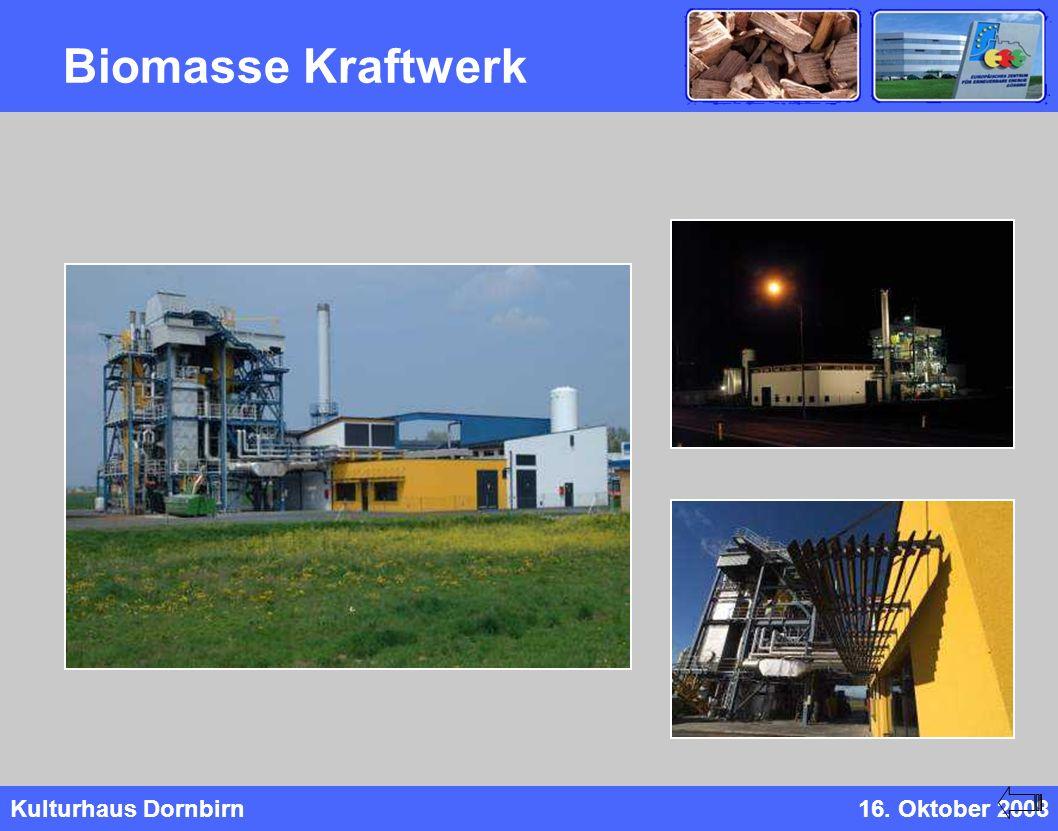 Kulturhaus Dornbirn16. Oktober 2008 Biomasse Kraftwerk