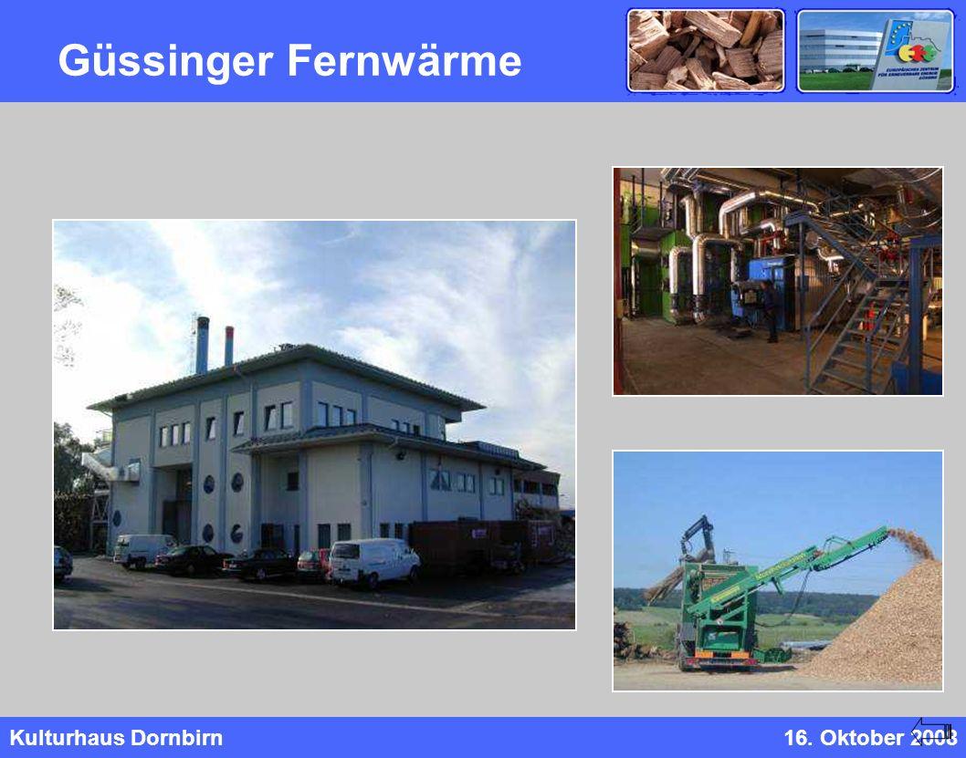 Kulturhaus Dornbirn16. Oktober 2008 Güssinger Fernwärme