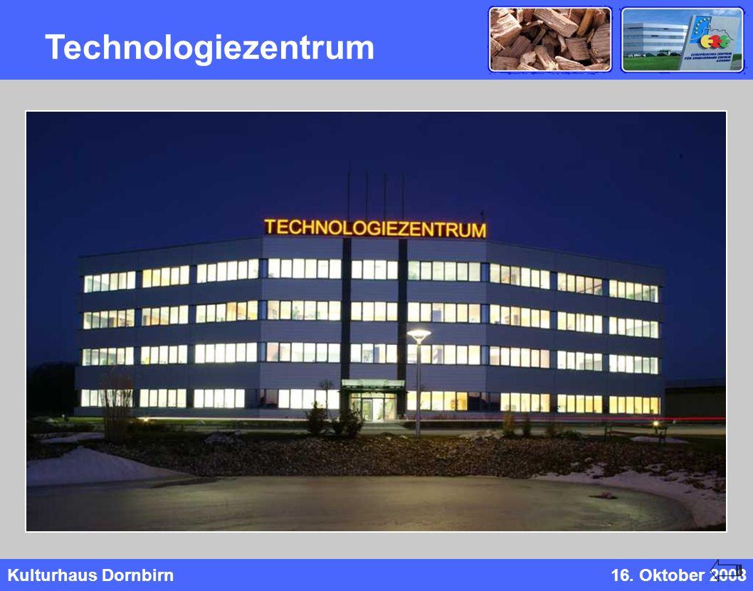 Kulturhaus Dornbirn16. Oktober 2008 Technologiezentrum