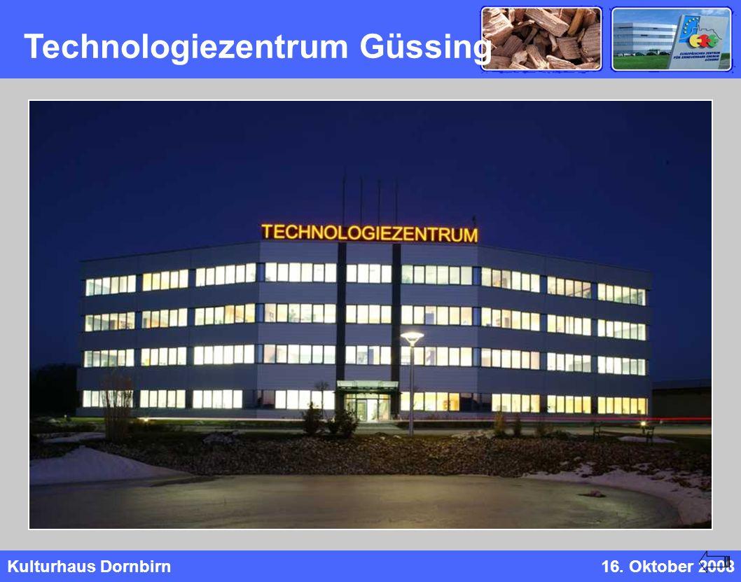 Kulturhaus Dornbirn16. Oktober 2008 Technologiezentrum Güssing