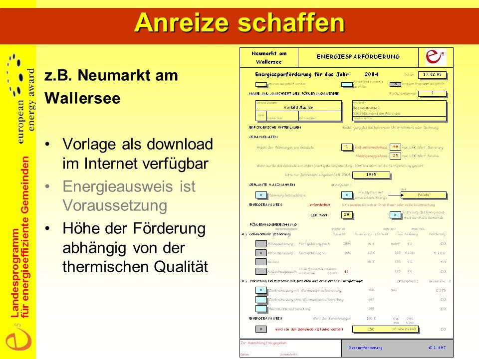 Landesprogramm für energieeffiziente Gemeinden z.B.
