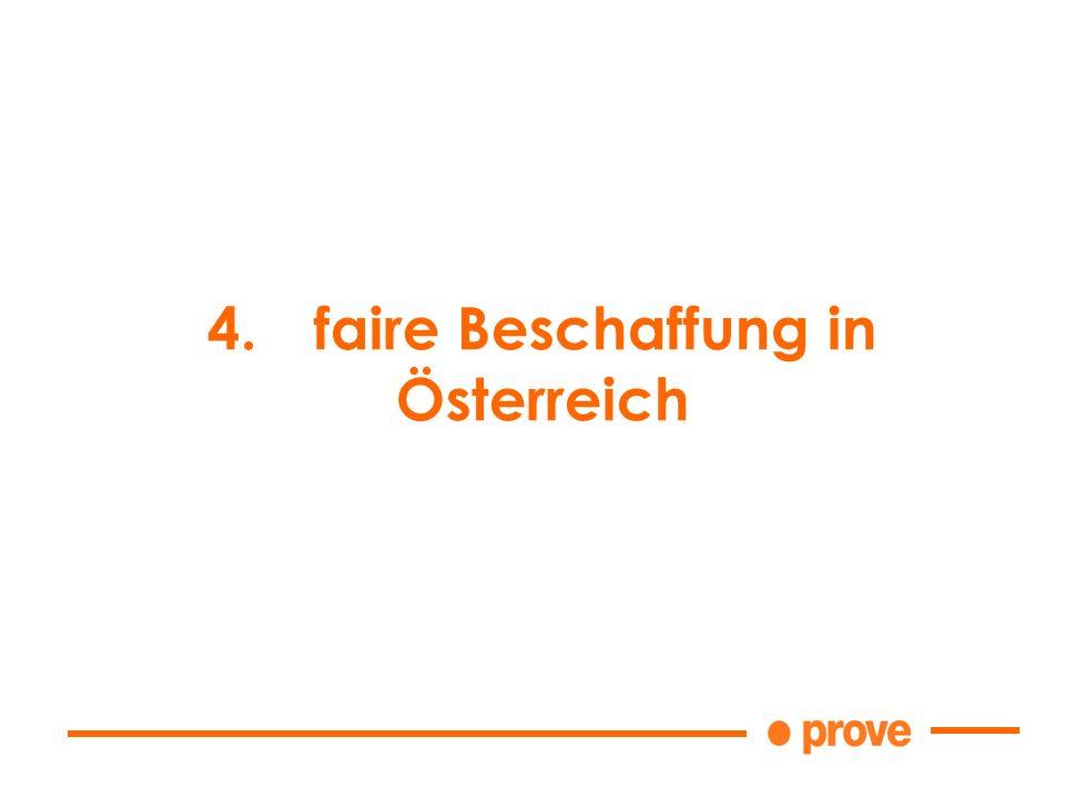 4.faire Beschaffung in Österreich