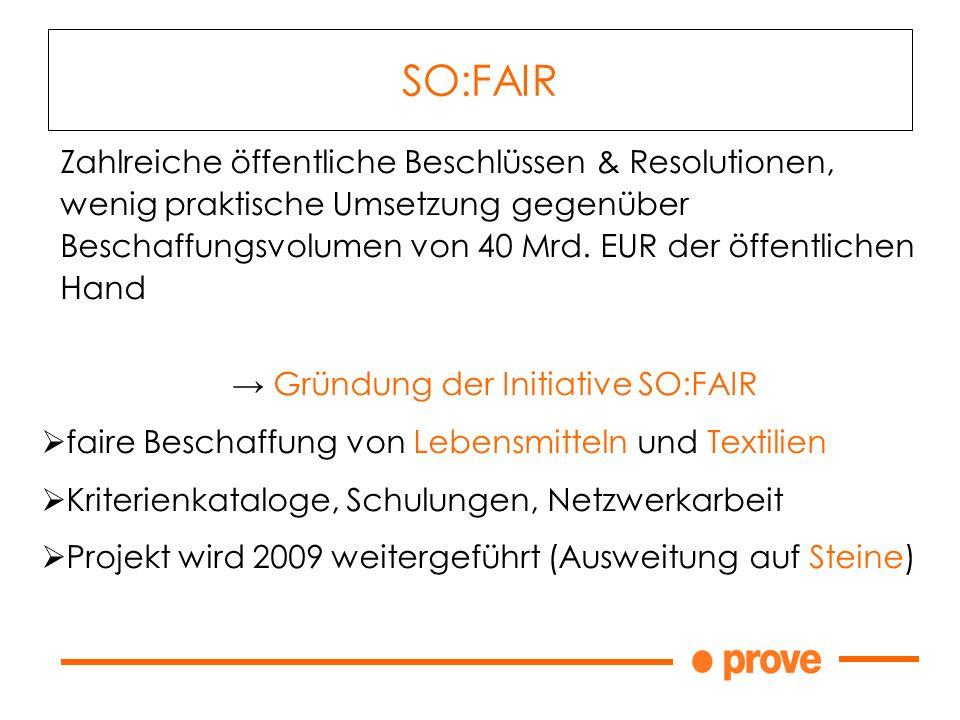Zahlreiche öffentliche Beschlüssen & Resolutionen, wenig praktische Umsetzung gegenüber Beschaffungsvolumen von 40 Mrd. EUR der öffentlichen Hand Grün
