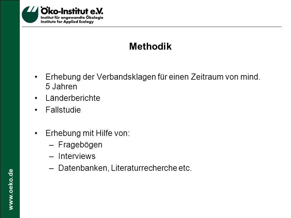 www.oeko.de Empirische Ergebnisse I LandKlagen 1996-2001 Belgien146 Dänemark 4 Frankreich 1197 Deutschland115 Italien117 Niederlande (ab 1997) ca.