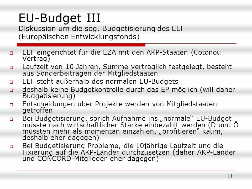 11 EU-Budget III Diskussion um die sog.