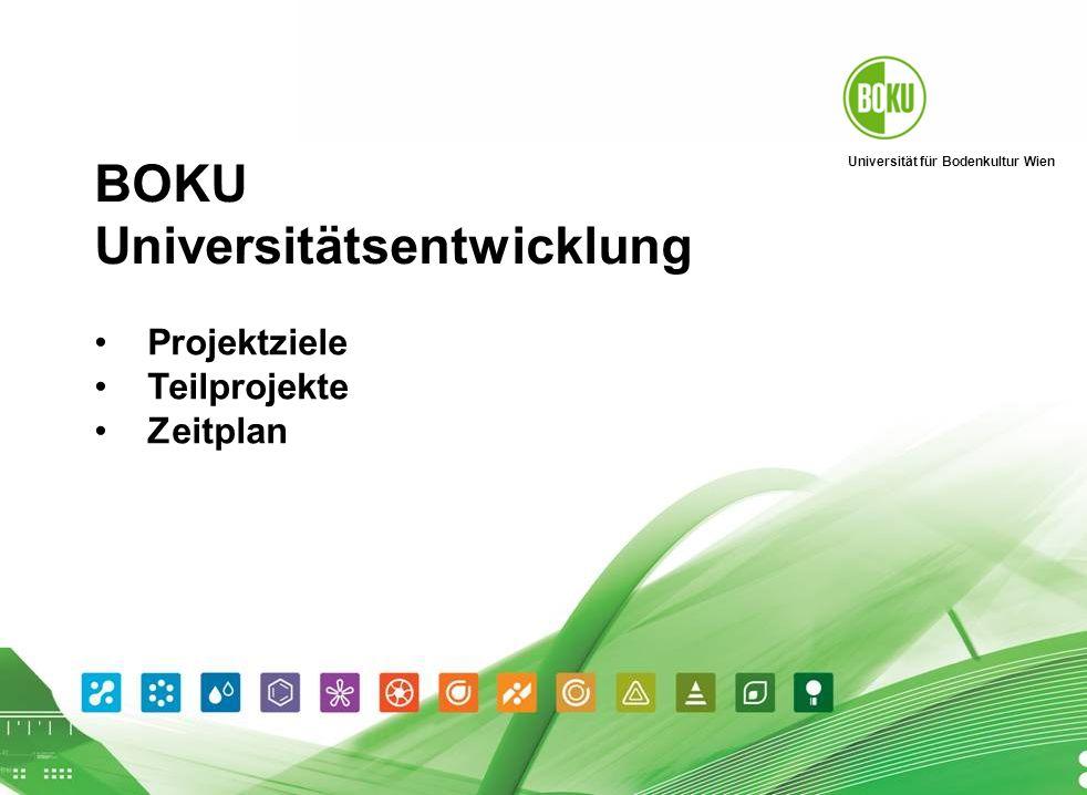 Universität für Bodenkultur Wien BOKU-Universitätsentwicklung I Projektinformation 14.4.04 12 Planung 2.
