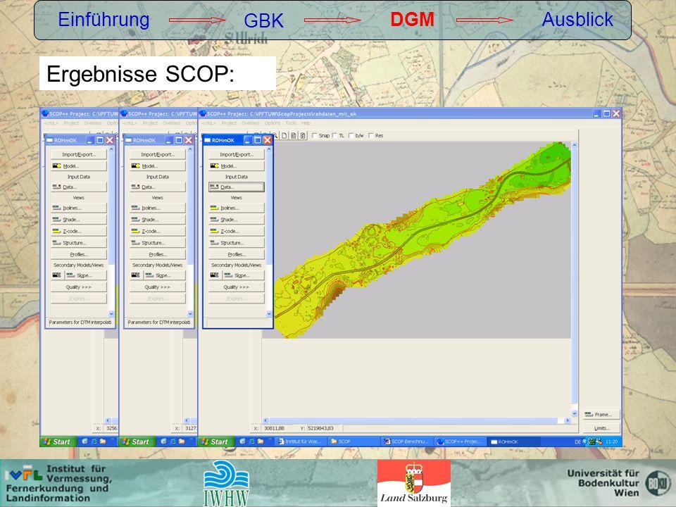 Einführung GBK DGMAusblick Ergebnisse SCOP: