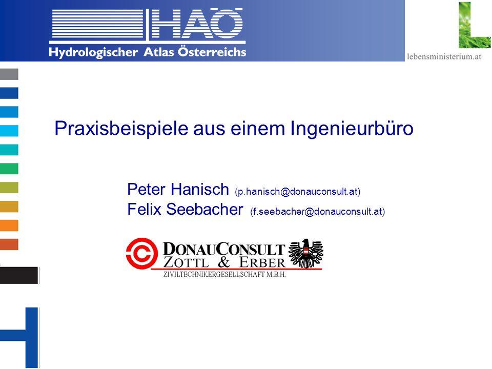 Copyright, 2002 © Josef Fürst Praxisbeispiele aus einem Ingenieurbüro Peter Hanisch (p.hanisch@donauconsult.at) Felix Seebacher (f.seebacher@donauconsult.at)