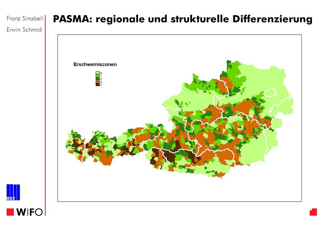 Franz Sinabell Erwin Schmid WIFOWIFO PASMA: regionale und strukturelle Differenzierung