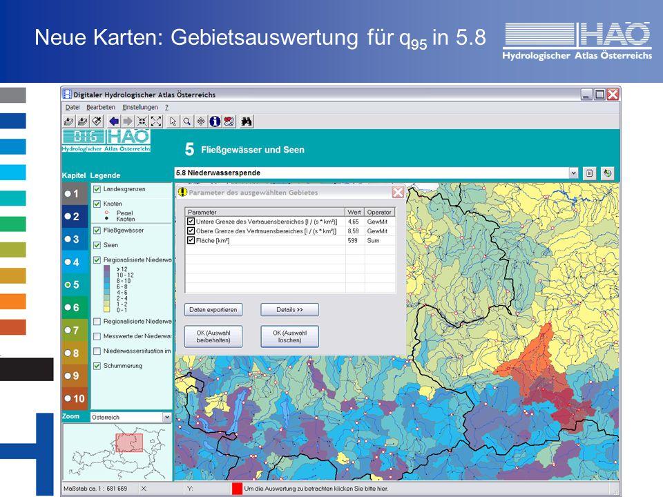 Neue Karten: Gebietsauswertung für q 95 in 5.8