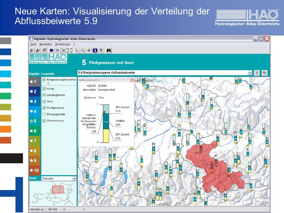 Neue Karten: Visualisierung der Verteilung der Abflussbeiwerte 5.9