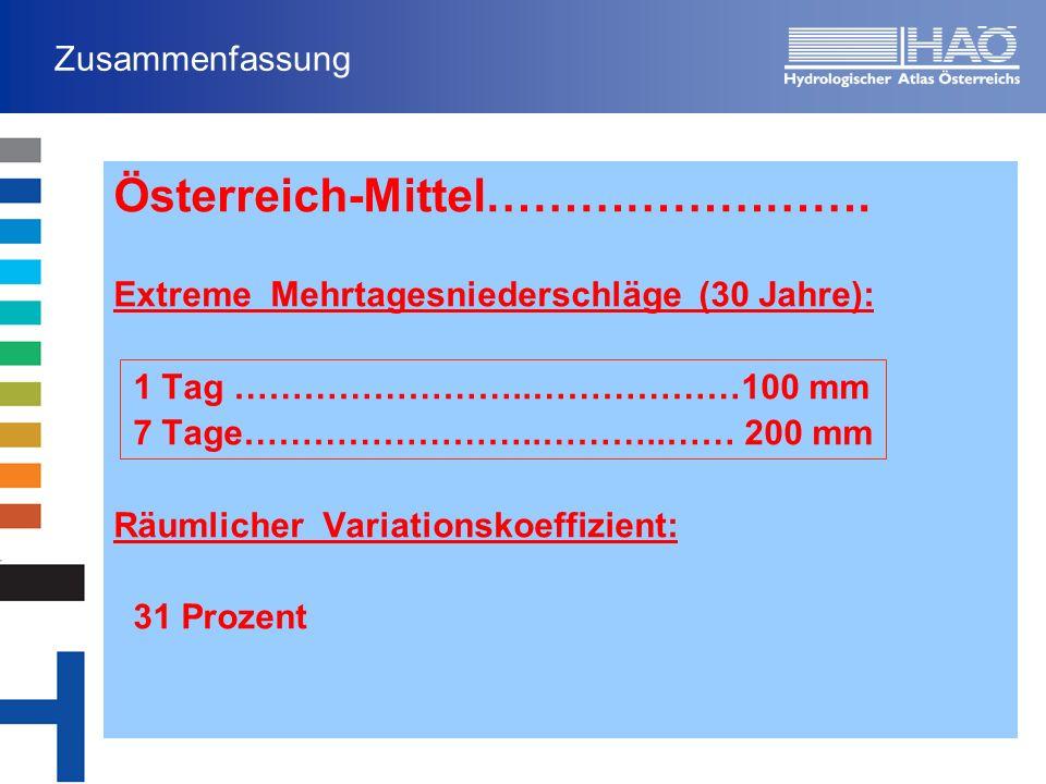 Zusammenfassung Österreich-Mittel…………………….