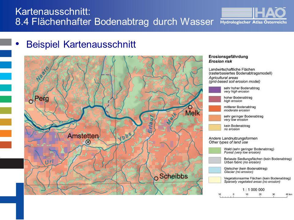Kartenausschnitt: 8.4 Flächenhafter Bodenabtrag durch Wasser Beispiel Kartenausschnitt
