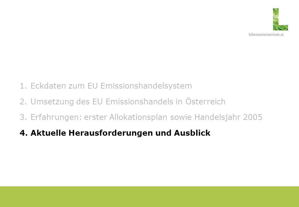 Europäische Kommission: Leitlinien zum NAP 2 Kernaussagen zur Bemessung der Zuteilungsmenge: - Zuteilungsmenge für NAP 2 sollte unter NAP 1 liegen.
