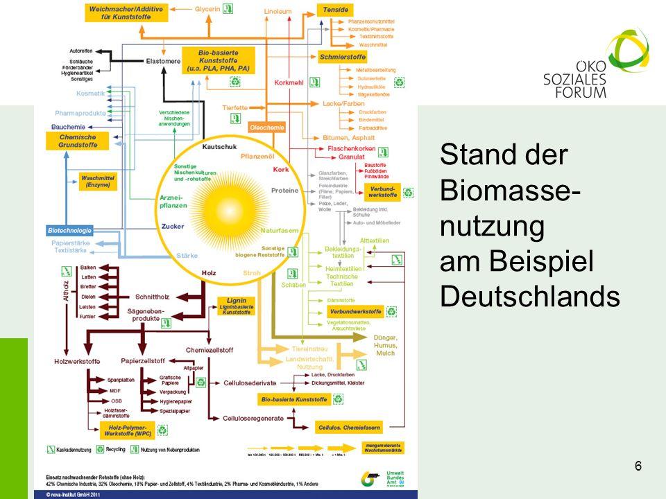 6 Stand der Biomasse- nutzung am Beispiel Deutschlands