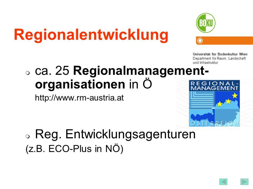 Regionalentwicklung LEADER: www.leader-austria.at EU-Programm für innovative Strategien in der ländlichen Entwicklung = nachhaltige Entwicklung ländlicher Räume: bottom-up, partnerschaftlich, territorialer Ansatz