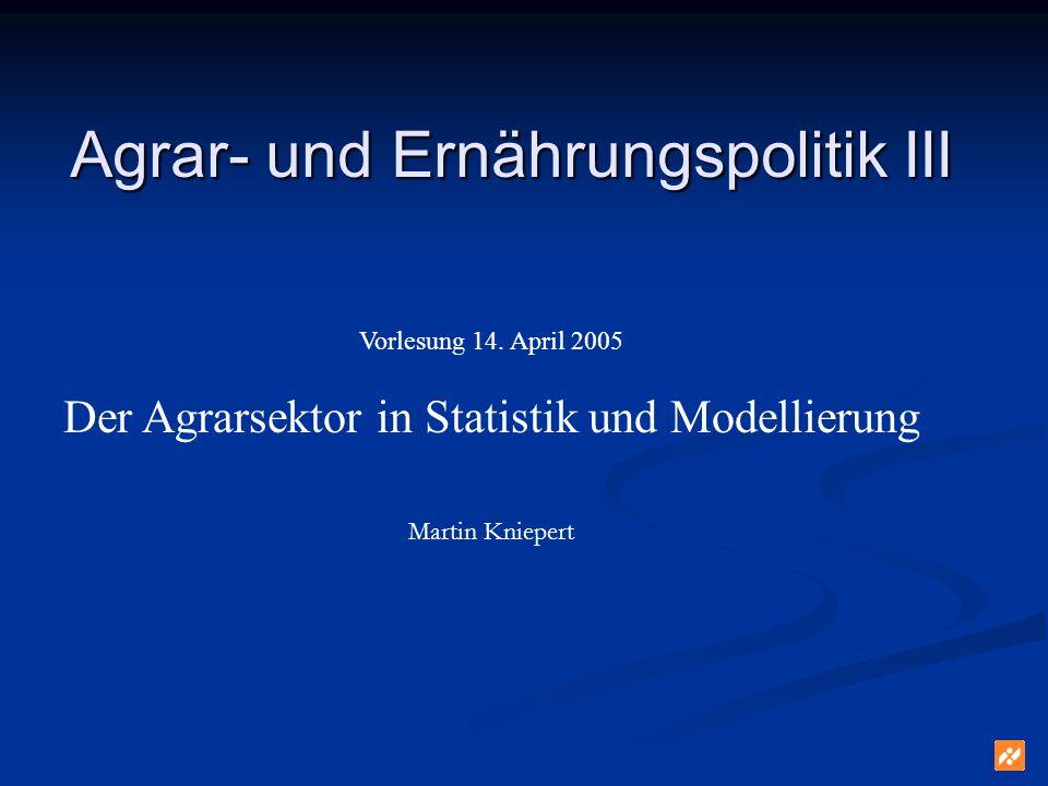 Agrar- und Ernährungspolitik III Vorlesung 14.