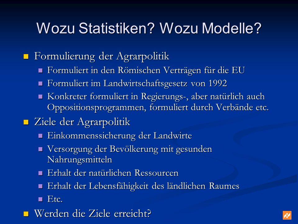 Wozu Statistiken. Wozu Modelle.