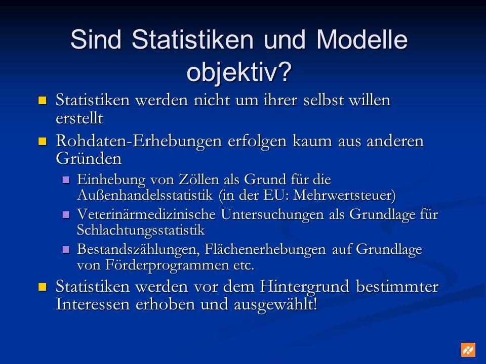 Sind Statistiken und Modelle objektiv.