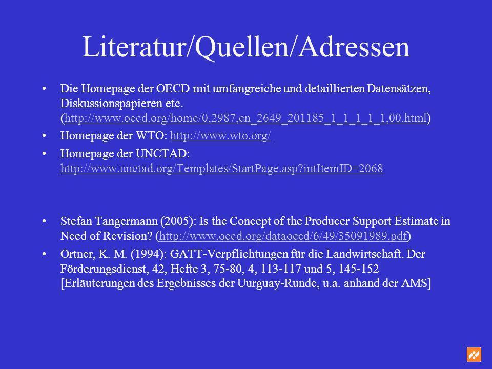 Literatur/Quellen/Adressen Die Homepage der OECD mit umfangreiche und detaillierten Datensätzen, Diskussionspapieren etc. (http://www.oecd.org/home/0,