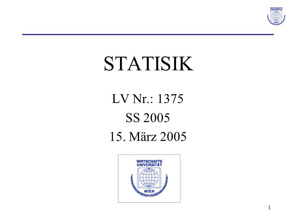 12 Statistische Tests Einführung: Ziel: Richtigkeit von Aussagen über die Verteilung einer Zufallsvariablen überprüfen.