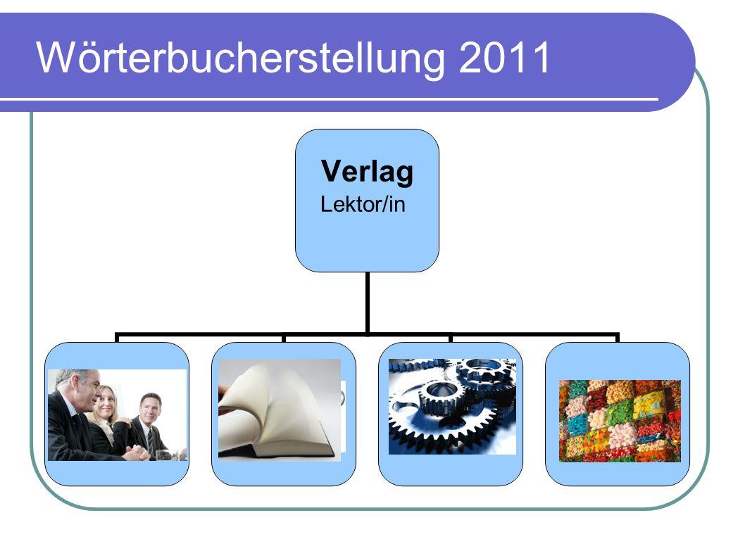 Wörterbucherstellung 2011 Verlag Lektor/in Autorenteams