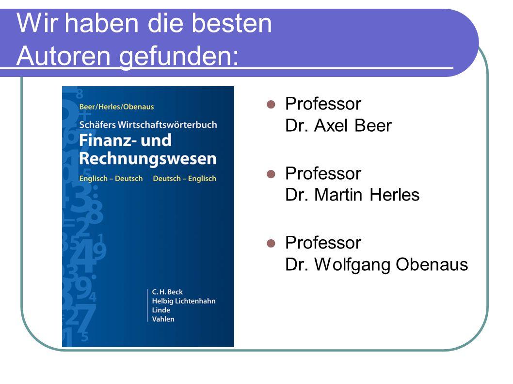 Wir haben die besten Autoren gefunden: Professor Dr.