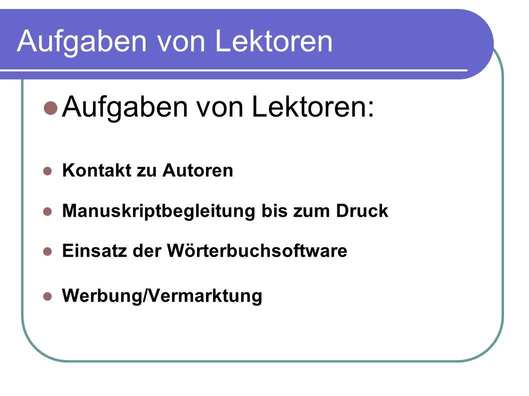 Der Wörterbuchmarkt 2011 Problem: Vielzahl von Mitbewerbern