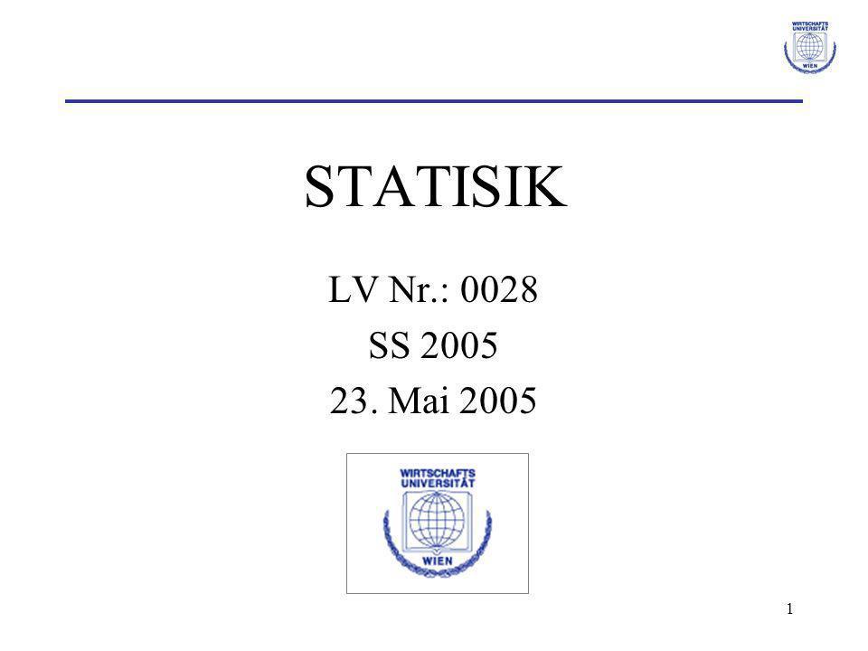1 STATISIK LV Nr.: 0028 SS 2005 23. Mai 2005