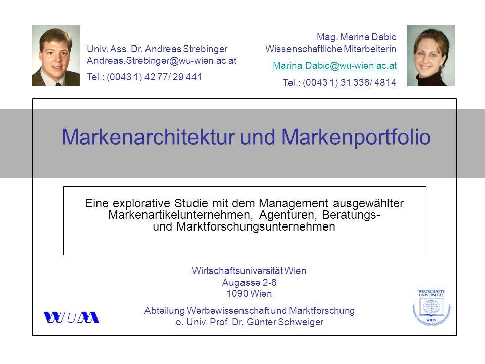 Markenarchitektur und Markenportfolio Eine explorative Studie mit dem Management ausgewählter Markenartikelunternehmen, Agenturen, Beratungs- und Mark