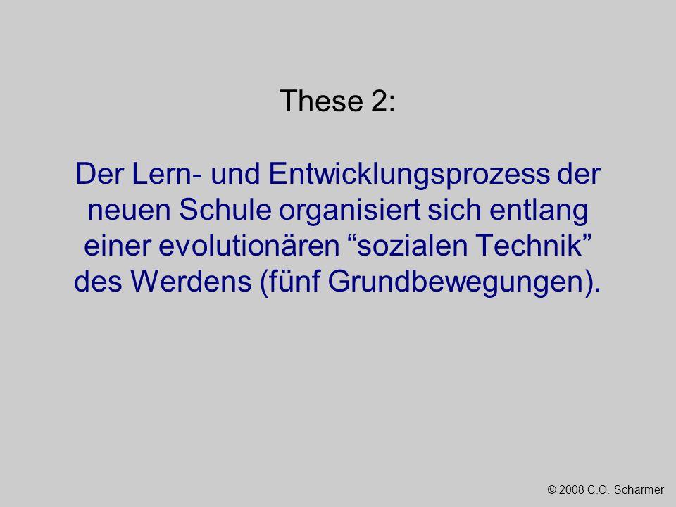 © 2008 C.O. Scharmer These 2: Der Lern- und Entwicklungsprozess der neuen Schule organisiert sich entlang einer evolutionären sozialen Technik des Wer