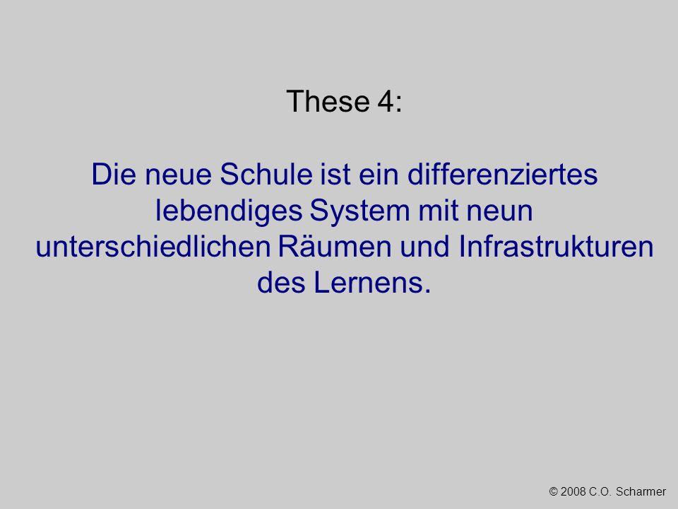 © 2008 C.O. Scharmer These 4: Die neue Schule ist ein differenziertes lebendiges System mit neun unterschiedlichen Räumen und Infrastrukturen des Lern