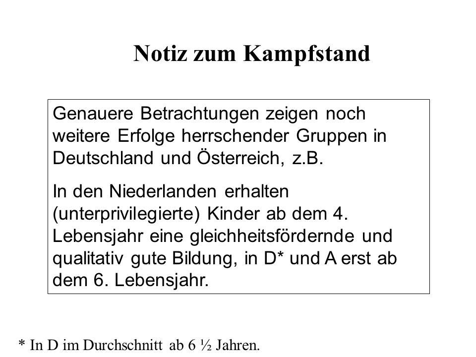 Genauere Betrachtungen zeigen noch weitere Erfolge herrschender Gruppen in Deutschland und Österreich, z.B. In den Niederlanden erhalten (unterprivile