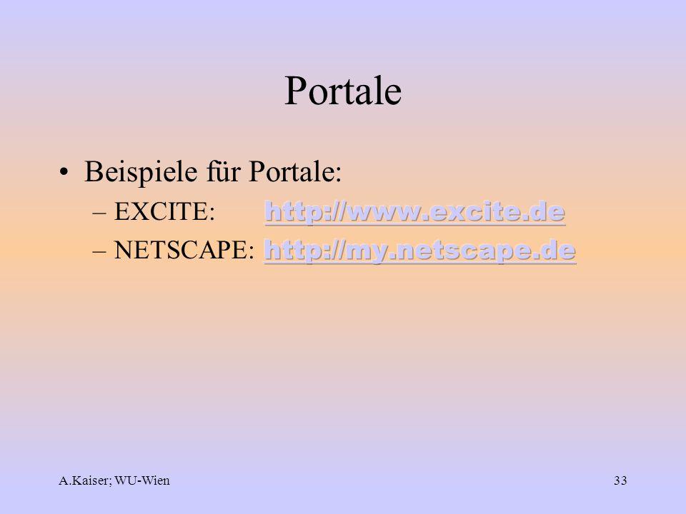 A.Kaiser; WU-Wien33 Portale