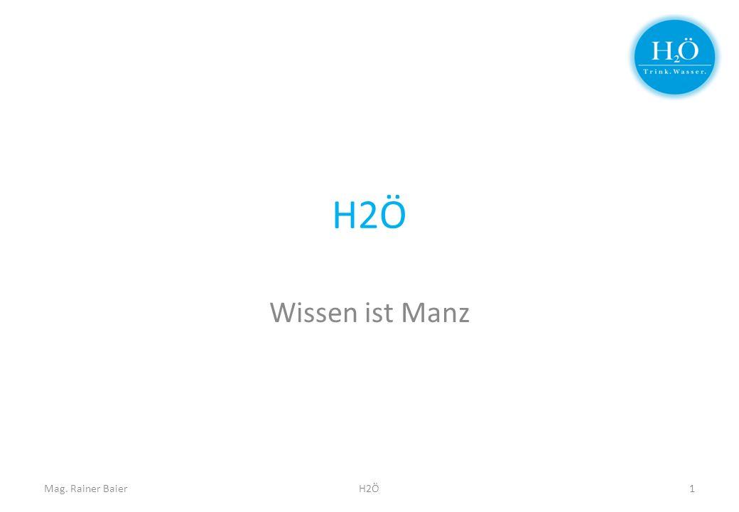 H2Ö Wissen ist Manz Mag. Rainer BaierH2Ö1