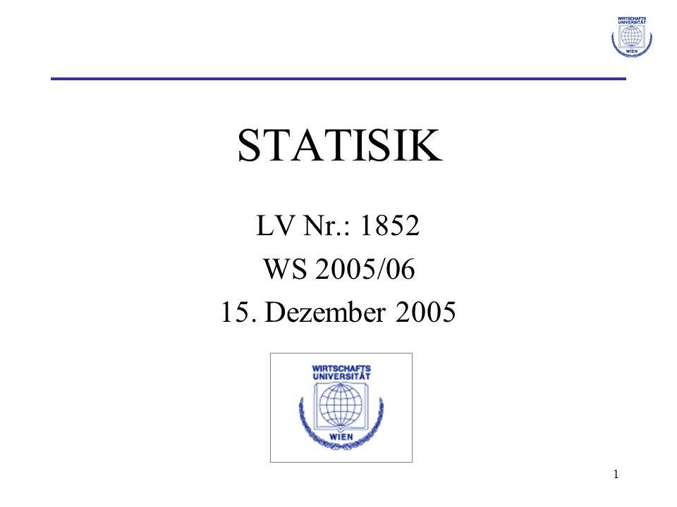 1 STATISIK LV Nr.: 1852 WS 2005/06 15. Dezember 2005