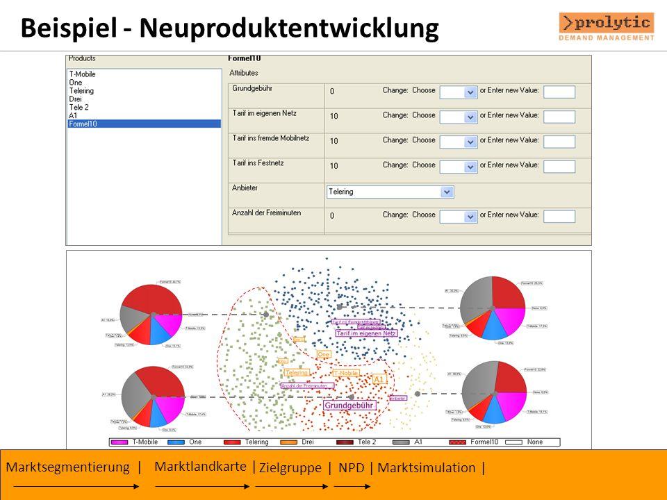 Beispiel - Neuproduktentwicklung Zielgruppe | Marktsegmentierung | Marktlandkarte | NPD |Marktsimulation |