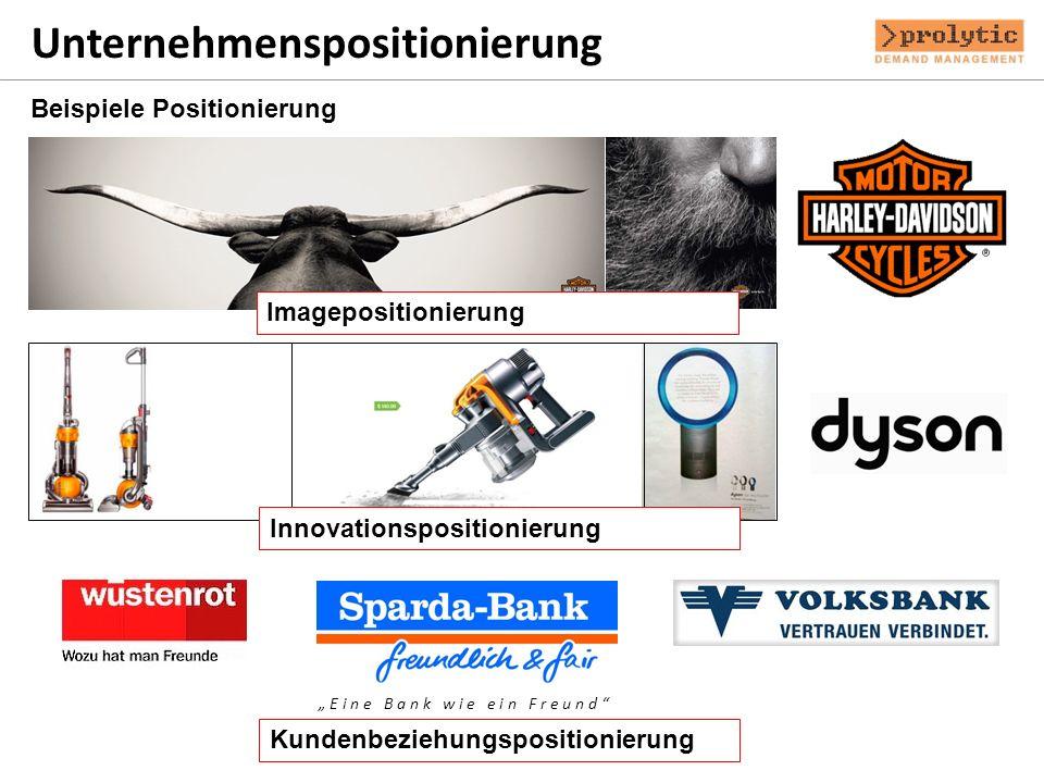 Unternehmenspositionierung Beispiele Positionierung E i n e B a n k w i e e i n F r e u n d Imagepositionierung Innovationspositionierung Kundenbezieh