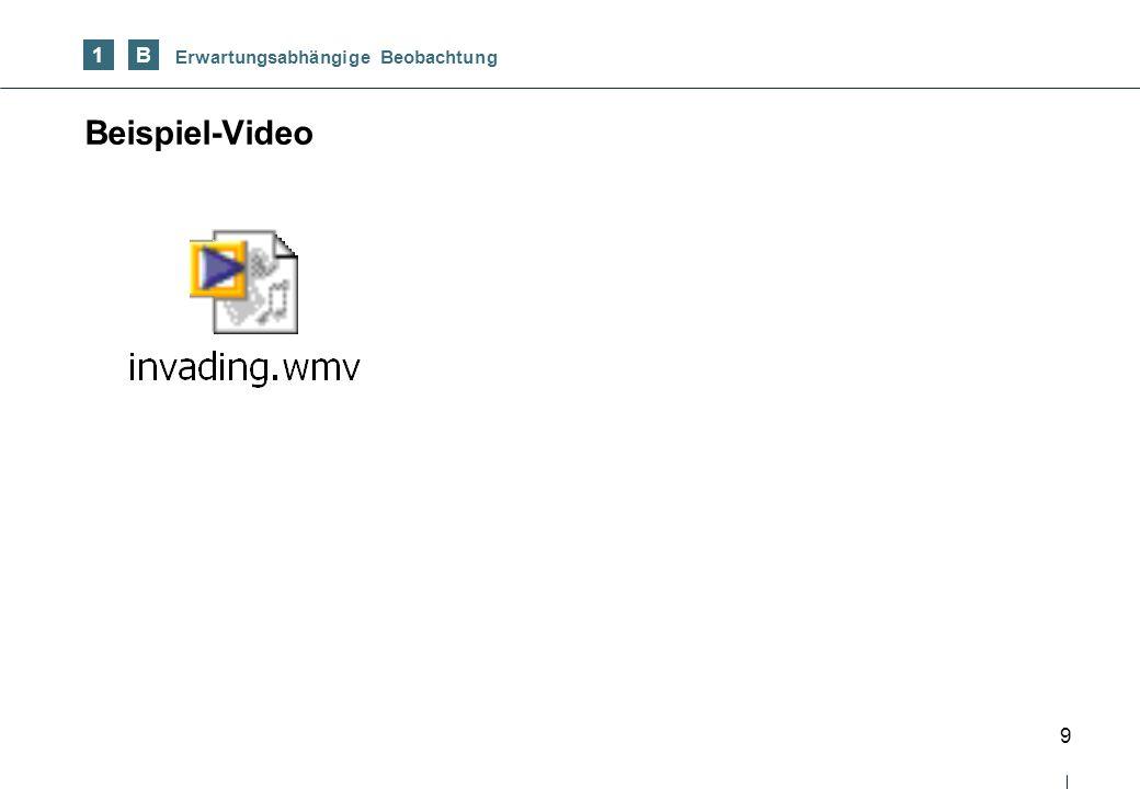 9 Beispiel-Video 1B Erwartungsabhängige Beobachtung