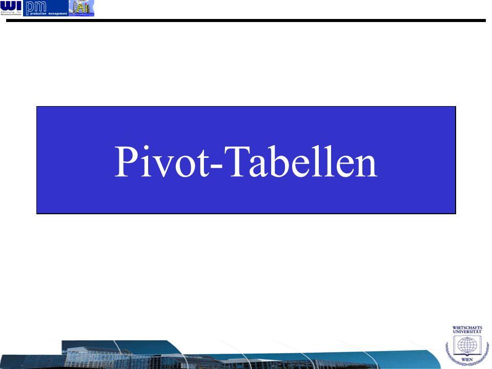 Pivot-Tabellen