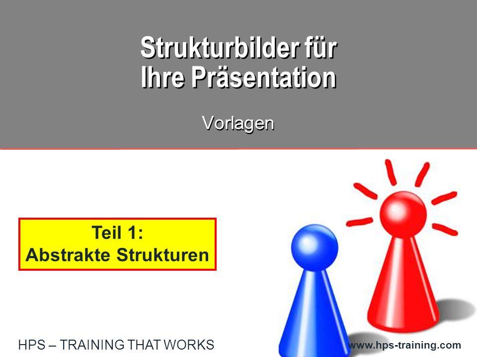 HPS – TRAINING THAT WORKS www.hps-training.com Strukturbilder für Ihre Präsentation Vorlagen Teil 1: Abstrakte Strukturen