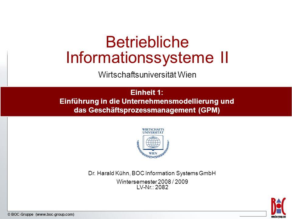 - 42 - © BOC-Gruppe (www.boc-group.com) Zentrale Fragen im BPMS Paradigma Markt Unternehmen Welche Produkte bieten wir an.