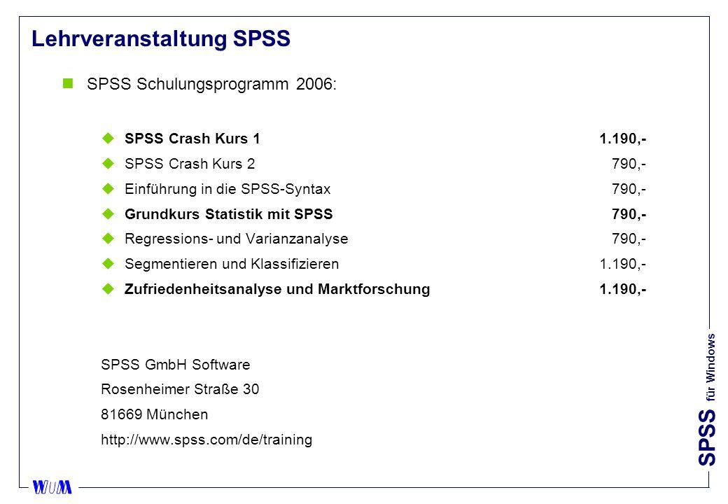 SPSS für Windows Mittelwertvergleiche (T-Test) nVarianten: uT-Test bei gepaarten Stichproben (paired samples): IV p-Wert des T-Test