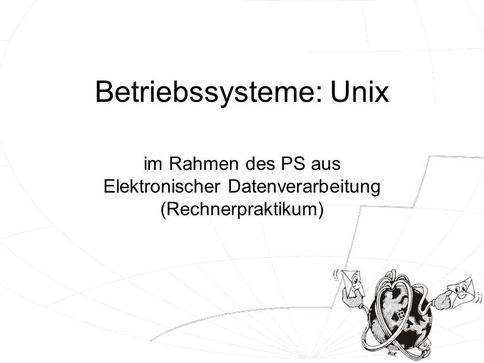 2 Grundlagen I multi-user, multi-tasking Timesharing Leichte Portierbarkeit case-sensitive (Unterscheidung zwischen Klein- und Großbuchstaben) mehrere Varianten von Unix existieren –kommerzielle von Anbietern wie IBM (AIX), HP, DEC,...
