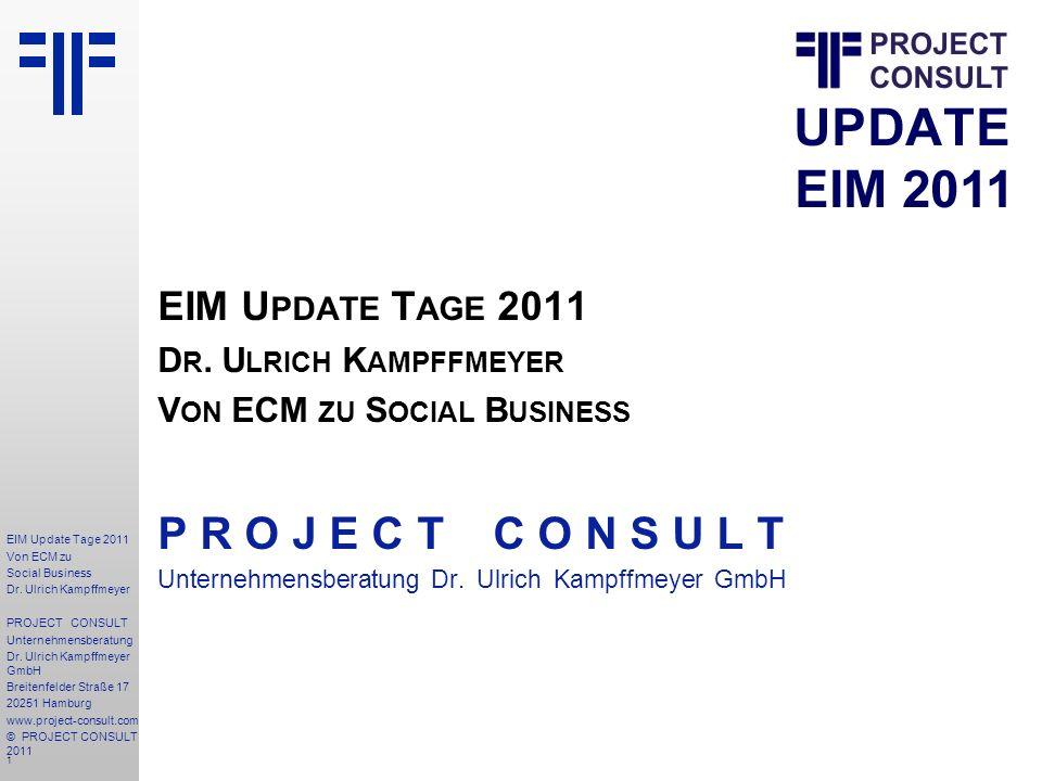 1 EIM Update Tage 2011 Von ECM zu Social Business Dr.