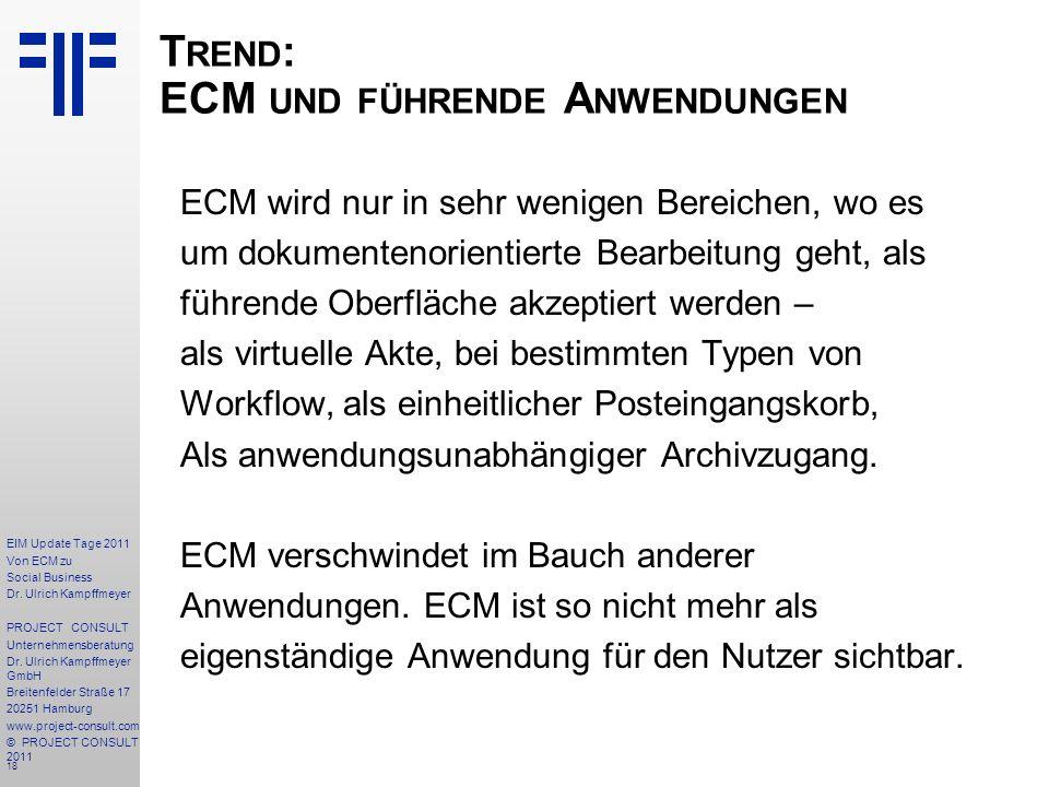 18 EIM Update Tage 2011 Von ECM zu Social Business Dr.