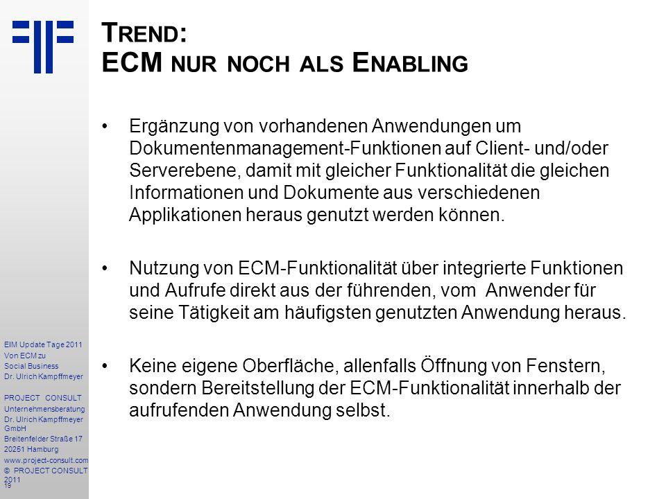 19 EIM Update Tage 2011 Von ECM zu Social Business Dr.